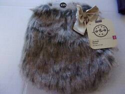 Nordic Faux FUR bow Jacket Dog XXS XS S Bond amp; Co new pet coat puppy XXSmall $21.74