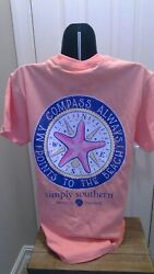 Simply Southern T-Shirt: My Compass Always Points to the Beach - Peachy