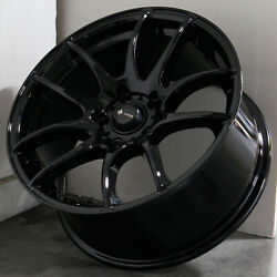 17x8 Black Wheels Vors TR4 5x114.3 35 (Set of 4)