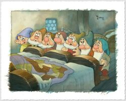 Toby Bluth Is She Asleep Snow White And The Seven Dwarfs Disney Fine Art