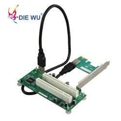 PCI Express to PCI Adapter Card PCIe to Dual Pci Slot Expansion Card $24.26