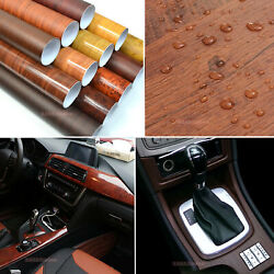 House Car Self Adhesive Matte Glossy Wood Textured Grain Vinyl Wrap Sticker ABUS