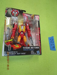 EE19 Transformers Generations Lot TITANS RETURN HOT ROD & FIREDRIVE Deluxe Class $20.00