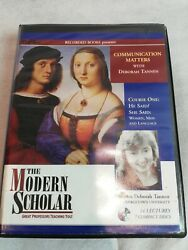 HE SAIDSHE SAID: WOMEN MEN AND LANGUAGE by THE MODERN SCHOLAR ~7 CD'S