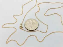 14K Solid Yellow Gold Ladies Very Dainty Thin ROPE Chain Necklace 16
