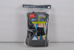 Mens Hanes Tagless X-Temp Performance Cool Regular Length Boxer Briefs 3Pack $10.79