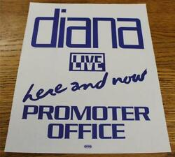 Vintage OTTO Backstage Concert Door Sign Diana Ross Here & Now Promoter Office