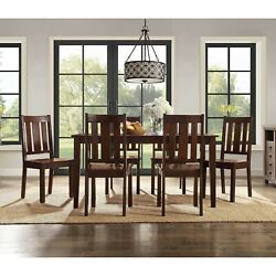Dining Room Table Set Wooden Kitchen Tables And Chairs Sets Contemporary 7 Piece $543.10