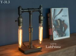 Rustic lamp Living room pipe Modern lamp Mechanic gifts Custom desk lamp $98.00