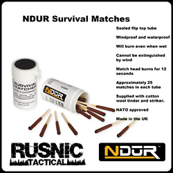 NDuR Survival Matches 21060 Water Proof Wind Proof 2 Pack NATO Approved