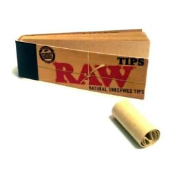 Raw Tips Raw Naturally Unrefined Rolling Paper Filter Tips 50 Count USA SHIPPED $1.84