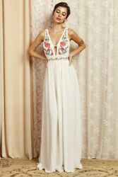 Embroidered Bohemian Maxi Dress Perfect For Party Wedding Homecoming $69.98