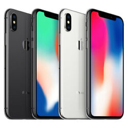 Apple iPhone X - 64GB 256GB CDMAGSM Unlocked Verizon AT&T T-Mobile Sprint