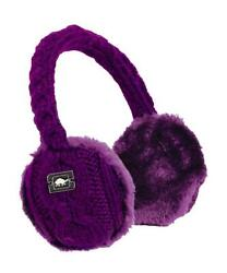 Turtle Fur Ear Muffin Faux Fur Lined Cable Knit Earmuffs