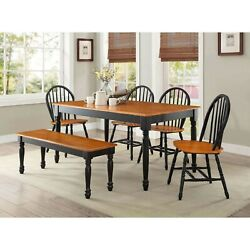 Dining Room Table Set For 6 Farmhouse Solid Wood Kitchen Tables And Chairs Sets $557.17