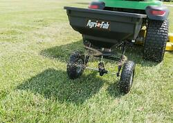 Tow Fertilizer Spreader Pull Behind Seeder Lawn Grass Seed Garden Yard Ice Melt $114.97