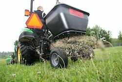 Tow Behind Fertilizer Spreader Pull Seeder Lawn Grass Seed Garden Riding Mower $405.97