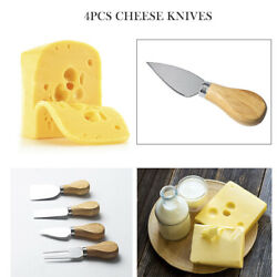 4pcsset Cheese Knives with Wood Handle Stainless Steel Cheese Cutter New