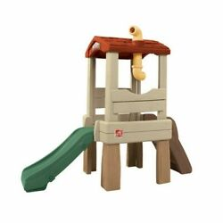 Outdoor Playhouse Treehouse Kids Toddler Playful Lookout Climber Playset w Slide