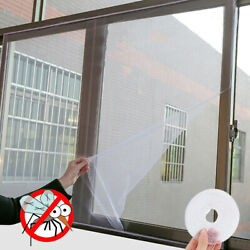 Window Mesh Door Curtain Snap Net Guard Mosquito Fly Bug Insect Screen 150x130cm