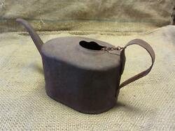 Vintage Metal Oil Can  Antique Watering Can Oiler Tractor Auto Metal Old 8316