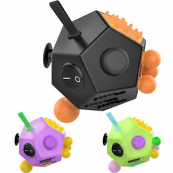 ATiC ADULT FIDGET CUBE 12 SIDE SIDED DESK TOY STRESS ANXIETY RELIEF FOCUS PUZZLE $10.99