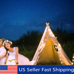 Portable Indoor Outdoor Cotton Kids Play Teepee Indian Tent House with Window US