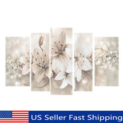 5PCS Abstract Flower Canvas Print Art Painting Modern Wall Picture Home Decor US