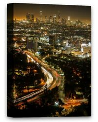 Nightlife in Los Angeles LA Citylights Canvas Art LA Road Los Angeles Night View