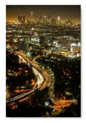 LA Road Los Angeles Night View Nightlife in Los Angeles LA Citylights Poster Art