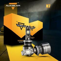Auxbeam T1 H7 70W LUMILEDS CREE LED Headlight Canbus Bulbs 8000LM Kit 6500K US
