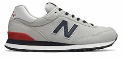 New Balance Men's 515 Shoes Grey With Blue & Red