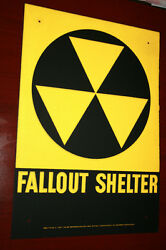 Fallout shelter sign original not a reproduction   WE SHIP WORLD WIDE