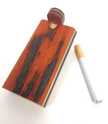 4quot; Colorful Wooden Tobacco Dugout Set with pipe Loaded 3quot; Metal One Hitter $99.99