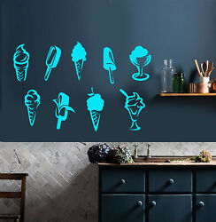 Vinyl Wall Decal Ice Cream Parlor Dessert Kitchen Decor Stickers 3817ig $29.99