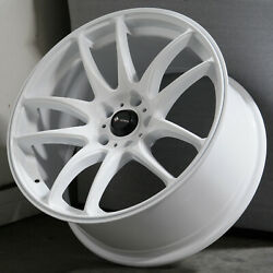 17x8 White Wheels Vors TR4 5x114.3 35 (Set of 4)