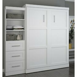 Bestar Pur 90quot; Queen Wall Bed in White $2115.29