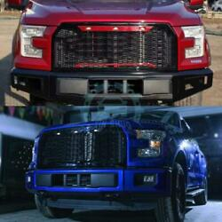 Blue Retrofit Front Grill Mesh Grille with Grilles Light for Ford F150 15-16sa