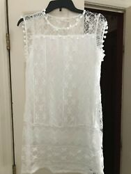 White Lace Cover Up Womens XS $16.99