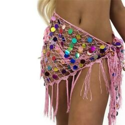Ladies Skirt Colored Sequin Paillette Tassel Hollow Out Skirt Bandage Beach Sexy $24.50