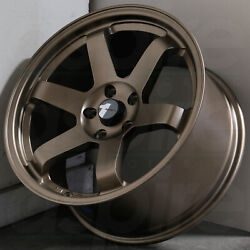 17x8 Matte Bronze Wheels AVID1 AV06 AV-06 4x100 35 (Set of 4)