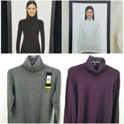 Andrew Marc Women's Lng Sleeve Turtleneck Sweater Pic Color & Sz S-2XL  #1149147