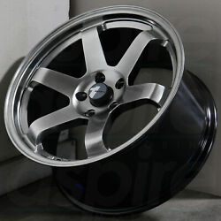 17x817x9 Hyper Black Wheels AVID1 AV06 AV-06 5x114.3 3542 (Set of 4)
