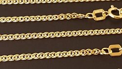 14 k Solid Yellow Gold 1.8 mm Nonna Chain Necklace  16