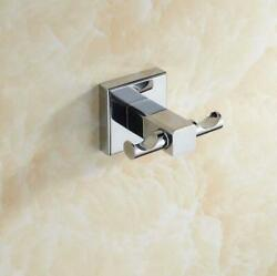 Double Wall Hanger Brass Kitchen Bathroom Clothes Holder Rack Hooks Free Ship