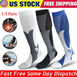 1-5 Pair Compression Socks 20-30mmHg Graduated Pain Relief Calf Leg Foot Support $17.58