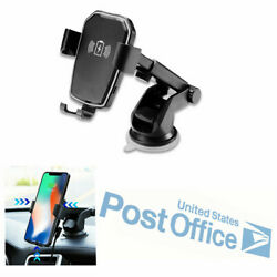 5W Car Dash Board Sucker Mount Gravity Qi Wireless Charger For iPhone XS XR #