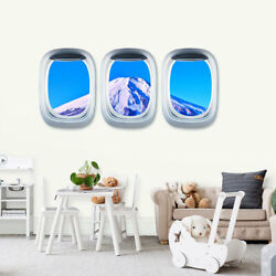 Airplane Window Decal Cloud View Peel Stickers Aviation Wall 3D Art Home Decor $8.47
