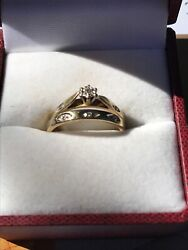 9ct Engagment And Wedding Rings