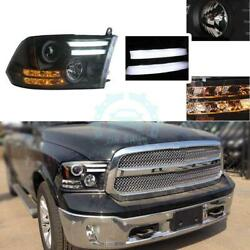 For Dodge Ram 1500 09-12 HID Xenon Projector HeadlightS LampLED Light Pipelks